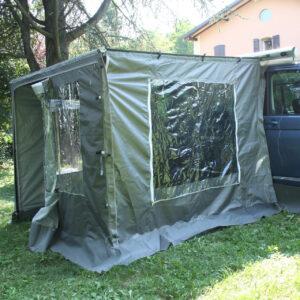 Komplettes Vorzelt 180x180 cm für ausrollbare Markise für Van - Scalabros